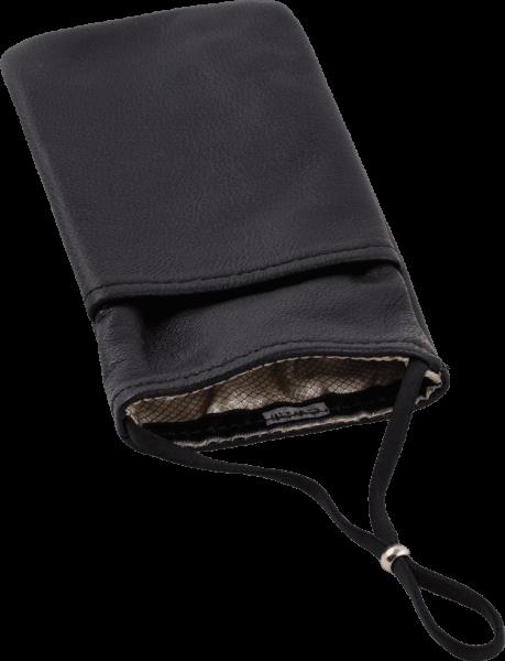 eWall Handytasche Leder, schwarz
