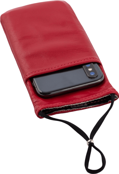 The eWall cell phone radiation leather- protection case, red